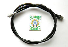 SPEEDO CABLE BLACK.ITALIAN THREADED NUT. FOR  VBB, VBA,SUPER SPRINT SPORTIQUE