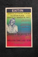 Jimmy Buffett Tour Poster 1977 Nashville Music Forum Ellisto