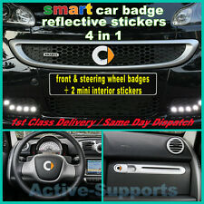 Reflectante Smart Frontal & Volante Insignia Sticker Set Brabus