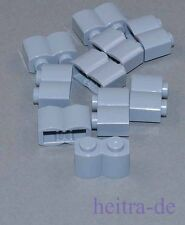 LEGO - 10 x Palisadenstein, hellgrau 1x2 / Palisade / 30136 NEUWARE