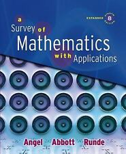 A Survey of Mathematics with Applications by Allen R. Angel, Christine D.... 1
