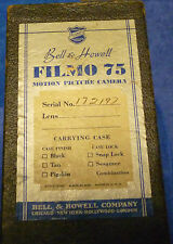 BELL & HOWELL FILMO 75 CAMERA #172197 excellent working condition