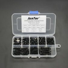 200pcs M3 High Tensile Socket Flat Head Screws Allen Bolts Assortment Kit H701