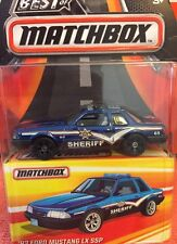 2016 MATCHBOX Best Of World Ford Mustang Police Real Riders Rubber Tires NIP D C