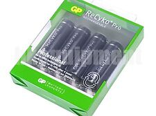 GP ReCyko+ Pro Rechargeable AA Pre-Charged NiMH 1.2v Battery x4+Case