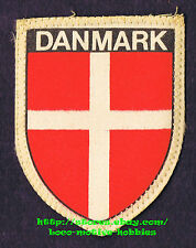 LMH PATCH Woven Badge  DANMARK  Banner Flag Pennant  DENMARK  White Red Cross