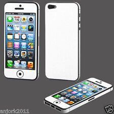 iPhone 5 SE Full Body Leather Look Screen Protector+Cleaning Cloth White