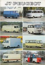 Peugeot J7 Van Bus Pick Up 1976-77 original FRENCH Sales Brochure No. PP897
