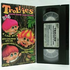 TROLLIES Radio Show Sing-A-Long VHS - Special Edition - Live Action Show! - 1992