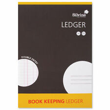 Silvine A4 Accounts  Book Keeping  Ledger Double Entry  Free UK Delivery