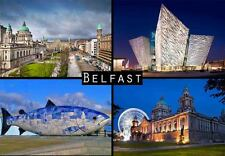 BELFAST NORTHERN IRELAND TRAVEL SOUVENIR FRIDGE MAGNET 2 #fm34