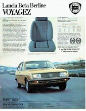 PUBLICITE ADVERTISING 0217  1979  La  Lancia Beta Berline  réseau Chardonnet