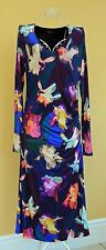 Paul Smith Ladies Designer Fitted Multicolour Floral Jersey Dress In Size M
