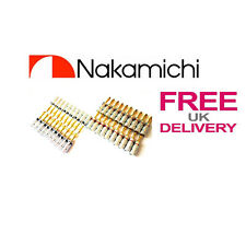 40x Quality Nakamichi Speaker banana plug 24k Gold plated connector **UK**
