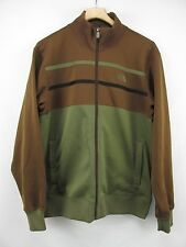 The North Face Green Brown Polyester Cotton Zip Front Jersey Jacket. Men's L NYZ