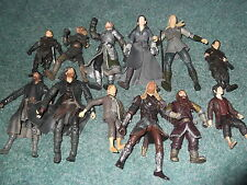 Mixed Lot of Lord of the Rings Figures Frodo Sam Orks Aragon Arwn