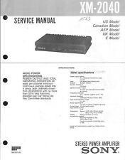 Sony original manual de servicio para xm-2040