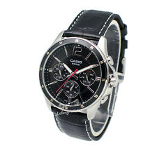 -Casio MTP1374L-1A Men's Strap Fashion Watch Brand New & 100% Authentic