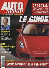 AUTO HEBDO n°1462 du 22 Septembre 2004 GUIDE MONDIAL DE L'AUTO RAC RALLYE