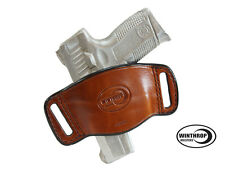 Walther PPK Ambidextrous OWB Belt Slide Leather Holster Brown Item# 0641