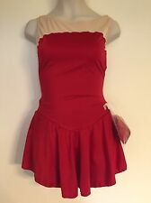 Figure Skating NEW Competition Dress Child 12 14 XL Ice Skate Red NWT