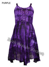 JORDASH PURPLE  BOHO HIPPY MINI DRESS SUMMER PARTY TIE DYE 12/14