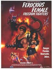 FEROCIOUS FEMALE FREEDOM FIGHTERS Movie POSTER 27x40 Eva Arnaz Barry Prima Ruth