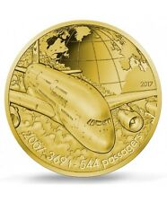 FRANCE 50 Euro Or BE 2017 L'Aviation Airbus A380 - Gold coin