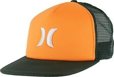 NEW Hurley Blocked Trucker Snapback Embroidered Hat Cap