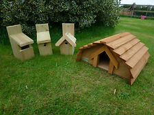 Hedgehog House & one Bird Nesting Box.  ***Exclusive to Country Rustics***