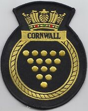 HMS Cornwall Royal Navy Embroidered Crest Badge Patch - MOD Approved