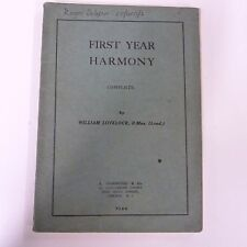books FIRST YEAR HARMONY complete, William Lovelock