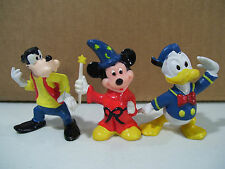 LOT OF 3 VINTAGE DISNEY MICKEY MOUSE & FRIENDS PVC FIGURES DONALD DUCK GOOFY