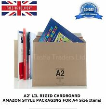 100 x A2' LIL RIGID CARDBOARD AMAZON STYLE ENVELOPE 334mm x 234mm F3 JL3 A4 Size