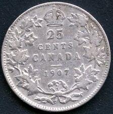 1907 Canada 25 Cent Silver Coin (5.81 grams .925 Silver)
