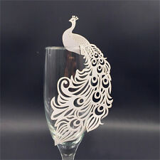 50 Pc Laser Cut Name Place Cards For Wedding Party Table Wine Glass Decoration
