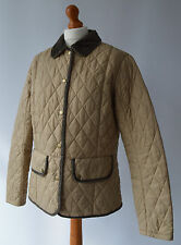 Ladies Barbour Vintage Quilt Light Beige jacket Size Uk 14