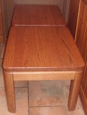 "(LOT OF 2) SOLID OAK END TABLES 1 1/2"" TOP 23 1/2' W x 18 3/4"" H x 27 1/2"" D"