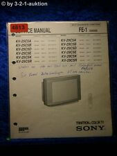 Sony Service Manual KV 25C5A /B /D /E /K /R /29C5A Color TV (#4813)