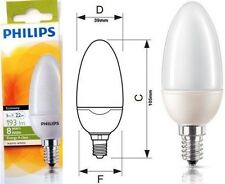 Philips 5w Pendant E14 CFL SES Candle Low Energy Light Bulb Chandeliers Bulbs