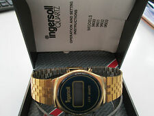 rare collectable ingersoll quartz lcd watch,,,,origional box papers,,,,,spares