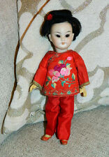 "Antique GERMAN SIMON & HALBIG 1129 7.5"" Bisque ORIENTAL Asian Character DOLL"