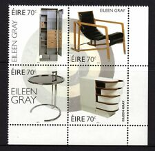 Ireland 2015 Eileen Gray Furniture Design Block 4 MNH