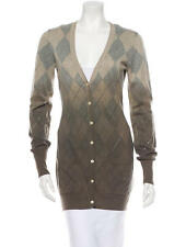 BURBERRY KNIT ARGYLE CARDIGAN OMBRE SIZE L LARGE