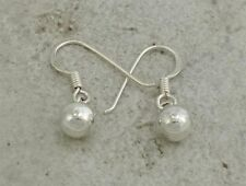 CUTE STERLING SILVER DANGLING BALL EARRINGS  style# e0247