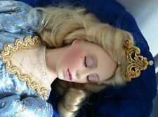 "Franklin Mint Heirloom SLEEPING BEAUTY 20"" Porcelain Doll w/ accessories +SOFA"