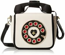 "NWT Betsey Johnson Crossbody Bag Cream ""Telephone Bag""  SOLD OUT EVERYWHERE !!"