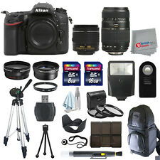 Nikon D7200 Digial SLR Camera 4 Lens Kit 18-55mm VR + 70-300 + All You Need Kit