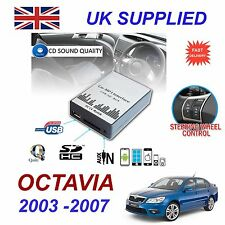SKODA OCTAVIA 2003- 2007 MP3 SD USB CD AUX Input Audio Digital CD Changer Module