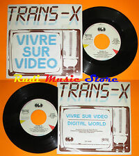 LP 45 7'' TRANS X Vivre sur video Digital world 1983 italy CGD 10490 cd mc dvd